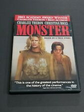MONSTER DVD CHARLIZE THERON, CHRISTINA RICCI TRUE STORY EXCELLENT CONDITION