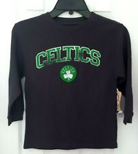 BOSTON CELTICS Youth Shirt Size Small 5/6 Lightweight Thermal Distressed Logo