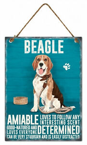 Beagle Dog Hanging Metal Sign rope hanger Approx 27x20cm