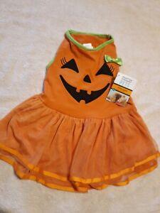 Martha Stewart pets fashion apparel/ Halloween pumpkin outfit size L new