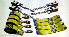 38-200 8 pt carrier Rollback TieDown System Flatbed tow truck Chain & snap hook
