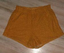 H&M Ochre/Gold/Mustard Shorts Size 12