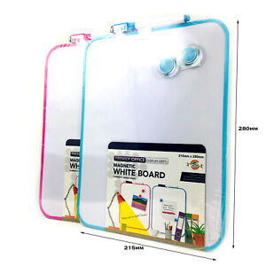 A4 Dry Wipe Board with Marker & Magnet A4 Magnetic Surface Board Children Board
