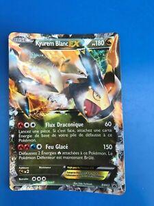 1 Carte Pokemon KYUREM BLANC 180 PV BW63 Holo EX GX MEGA Fr NOIR ET BLANC NEUF