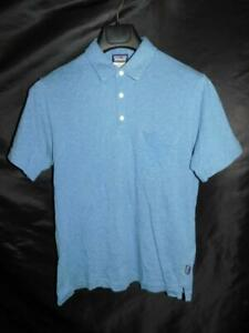 Patagonia XS Mens Blue Squeaky Clean Polo Shirt Organic Cotton Short Sleeve Knit