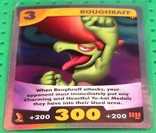 Yo-Kai Watch TCG Trading Card Game RARE FOIL Roughraff #101 holofoil *UNPLAYED*