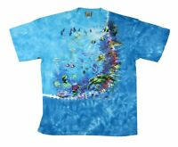 Liquid Blue Coral Reef Blue Tie Dye T Shirt New Official Adult