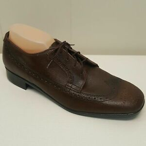 Vintage Stuart McGuire Brown Shoes Leather Wingtip Lace Up Church Office Career