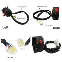 "7/8"" Left+Right Motorcycle ATV Handlebar Horn Button Turn Signal Fog Lamp Switch"