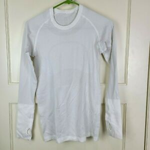 Lululemon Run Swiftly Tech Women's Long Sleeve Shirt White Active Size 6