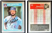 Ken Oberkfell Signed 1985 Fleer #336 Card Atlanta Braves Auto Autograph