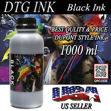 1000ml BLACK INK DTG VIPER DuPont Style Textile Ink Direct To Garment Printers