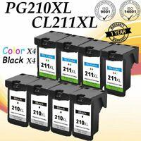 8 PK PG-210XL Black CL-211XL Color Ink for Canon PIXMA iP MP MX Series Printers