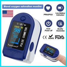 USA FDA Finger Pulse Oximeter Heart Rate Blood Oxygen Sensor O2 SpO2 Monitor