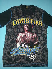 Christian Audigier Los Angeles 58 Native Indian Black Tshirt Size Adult XXL 2XL