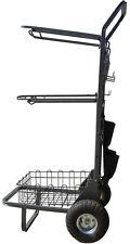 Heavy Duty Saddle Rack Cart with 5 Pocket Organizer