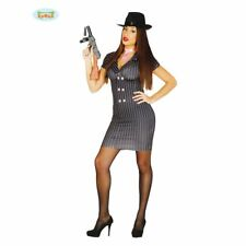 CARNEVALE HALLOWEEN VESTITO GANGSTER DONNA WOMAN TG UNICA COSPLAY