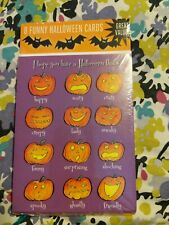 Recycled Paper Greetings Pack Of 8 Halloween Cards Retail $4.99