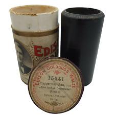 """Edison Goldguss Walze Nr.:15641 """"Plappermäulchen"""" aus eine lustige Doppelehe1907"""