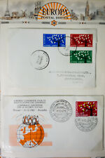 Europa Stamps 1960s Vintage Collection of 80+ Cachet Covers