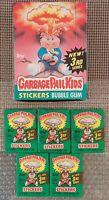 1986 Garbage Pail Kids Original 3rd Series 3 GPK OS3 (BOX & 5 WAX PACKS) RARE!!