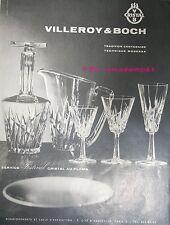 PUBLICITE 1960 VILLEROY & BOCH CRISTAL AU PLOMB SERVICE FESTIVAL FRENCH ADVERT