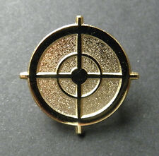 Sniper Scope Sight Gold Colored Rifle Gun Weapon Lapel Hat Pin 1 inch