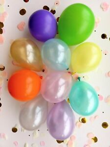 """Yellow Balloon Birthday Wedding Party Bride Baby Hen 5"""" Lilac blue pink gold"""