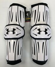 New Under Armour Revenant Senior Lacrosse Arm/Elbow Guards mens Large White pad