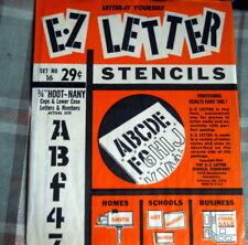 "E-Z Letter Stencil 3/4"" Hoot-Nany * Vintage N O S #16"