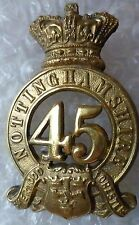 VICTORIAN 45th Foot Nottinghamshire Regiment (Sherwood Foresters) Helmet Badge
