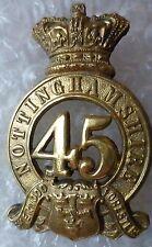 VICTORIAN 45th Foot Nottinghamshire Regiment (Sherwood Foresters) Helmet Badge