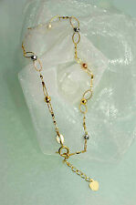 750 GOLD  ARMBAND Damen tricolor 18-20 cm  NEU  exakt dazu pass. Collier im Shop