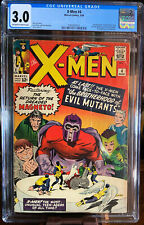 X-MEN #4 1ST SCARLET WITCH & QUICKSILVER 2ND MAGNETO OFF-WHITE TO WHITE CGC 3.0