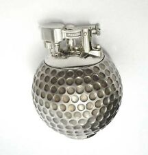 Sterling Silver Alfred Dunhill Golf Ball Form Lighter London Golfer Golfing