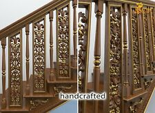 Carved oak stair spindles for sale - Stair parts (10 pc.)