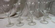 """RARE (8) elegant Cambridge Glass / Regency Stradivari Lyre ~ Harp Goblets 8"""""""