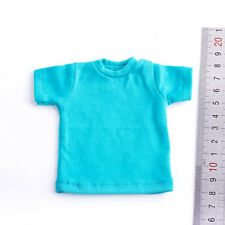 """1/6 Scale Blue T-shirt Fashion For 12"""" Action Figure Body"""