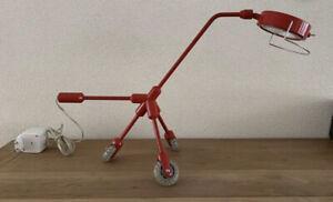 IKEA Kila Red Dog Lamp Rolling Desk Lamp Harry Allen 2001 Rollerblade Tripod