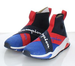 85-22 $90 Men's Sz 6.5 M Champion Rally Crossover Sneaker In Blue/Red