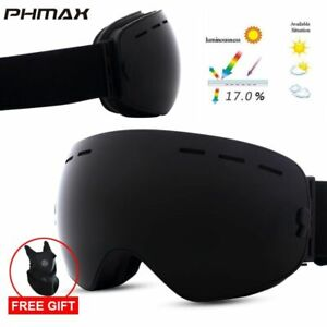 PHMAX Ski Goggles With Ski Mask Men Women Snow Skiing Snowboard Glasses Anti-fog