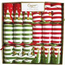 Caspari Celebration Christmas Crackers, Stocking Stripe, Box of 6 (CK080.12)
