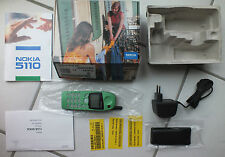 Original Nokia 5110 NEU GRÜN OVP Kult Handy mit Displayfolie f VW Mercedes Audi