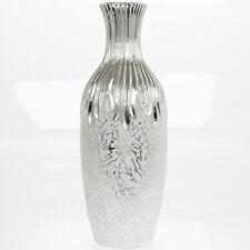 40cm Silver Art Vase Home Decorative Ornament Display Tabletop Flower Decor GIFT