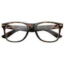 Vintage  Eyewear Original Geek Nerd Leopard Clear Lens Horn Rimmed Glasses