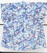 Japanese Vintage Kimono /yukata/ Womens 55 inc./Blue 3nfuji24365