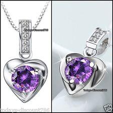 bijoux pour femmes argent améthyste violette Collier Cristal CADEAUX ELLE MAMAN