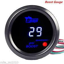 "Car Universal Digital Blue LED Display Warning PSI Turbo Boost Gauge Meter 2"" 52"