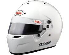 Go Kart Bell KC7-CMR Kart Helmet 57 White Karting Race Racing