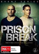 PRISON BREAK-Season 5-Region 4-New AND Sealed-3 Disc Set-TV Series